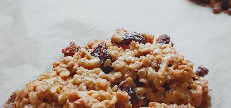 gluten free cranberry oat cookies