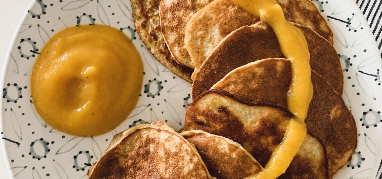 glutenfreie Bananenpancakes aus vier Zutaten