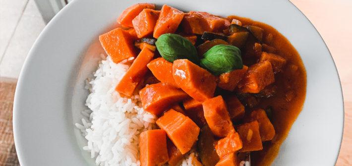 Veganes und glutenfreies Süßkartoffel-Curry